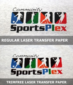 Laser and TrimFree Transfer Paper comparison